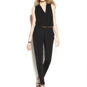 Michael Kors Black Sleeveless V Neck Jumpsuit